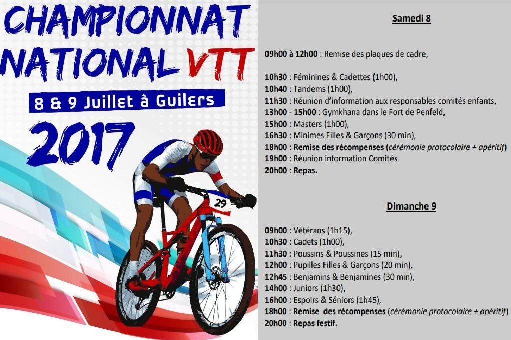Horaires National VTT