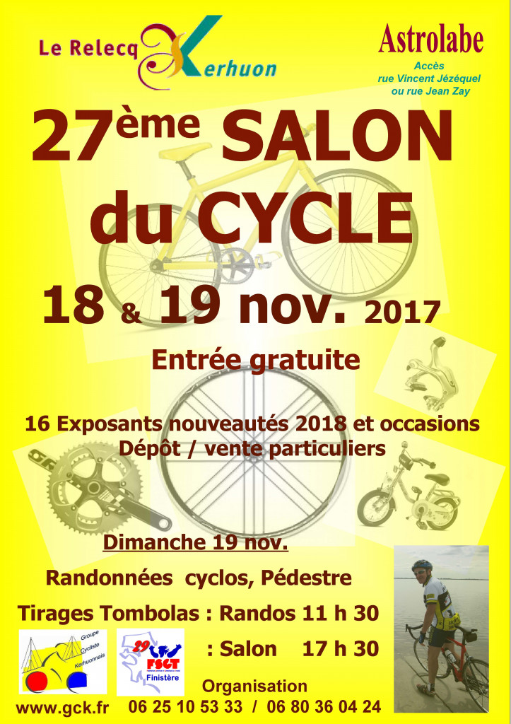 Affiche A4  salon du cycle 2017